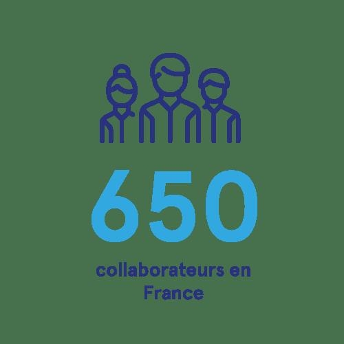 650 collaborateurs en France