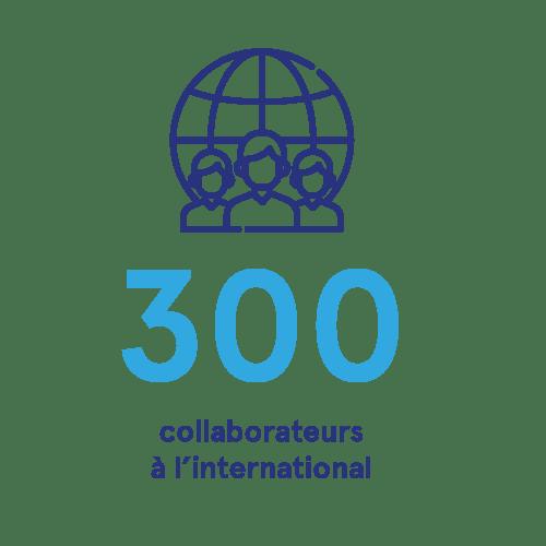 300 collaborateurs à l'international