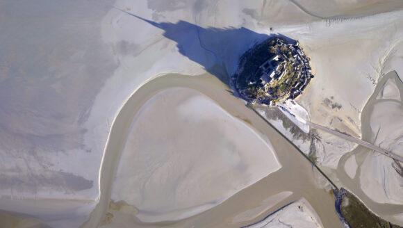 Vue aérienne de la Baie du Mont Saint-Michel