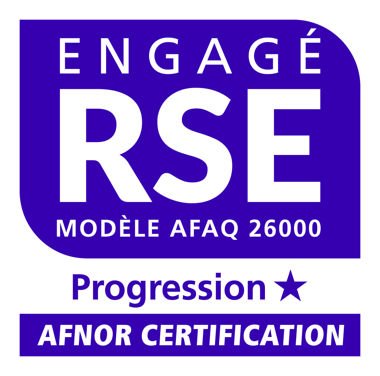 Logo Engagé RSE Progression AFNOR